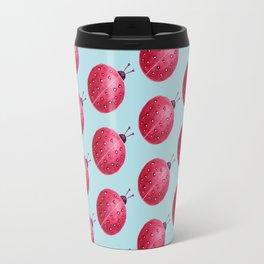 Spherical Abstract Watercolor Ladybug Travel Mug