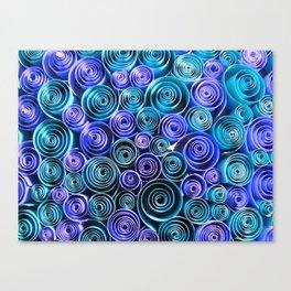 Blue Sea of Swirls Canvas Print