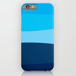 Blue view iPhone Case