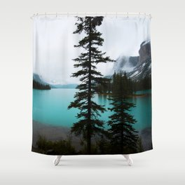 Maligne Lake  Landscape Photography Shower Curtain