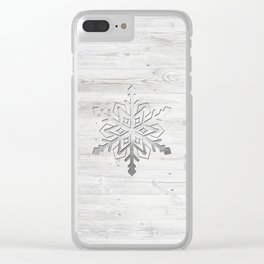 Snow in Silver Clear iPhone Case