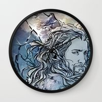 fili Wall Clocks featuring The Hobbit - Fili by lorna-ka