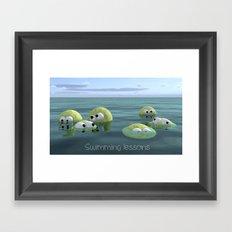 Swimming lessons Framed Art Print