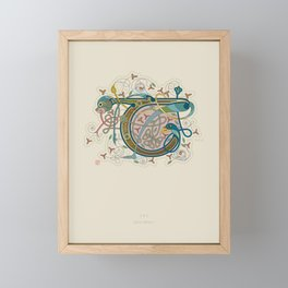 Celtic Initial T Framed Mini Art Print