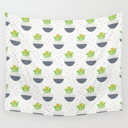 Potted Kalanchoe Plant Mom Pattern Wall Tapestry