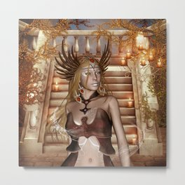 Wonderful fairy with headdress Metal Print