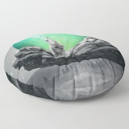 Echoes of a Lullaby / Geometric Moon Floor Pillow