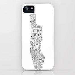 New York City Neighborhoods iPhone Case