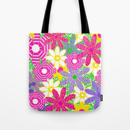 Frolicking Flowers Tote Bag