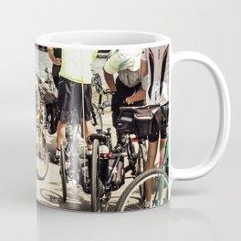 Group Of Cyclists At St Kilda Coffee Mug