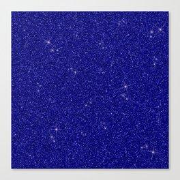 C13D Blue Glitter Canvas Print