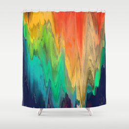 Pixel Sorting 67 Shower Curtain