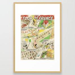 Tour de France Comic Book Framed Art Print