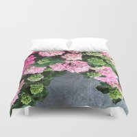 hydrangea Duvet Covers featuring Hydrangea  by Chelsea Victoria