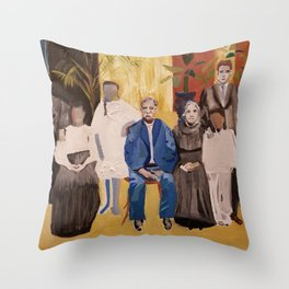 The Faces are Familiar Throw Pillow