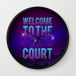 Welcome to the Night Court Wall Clock