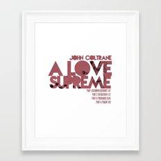 A Love Supreme - John Coltrane / Album Cover Art LP Poster  Framed Art Print