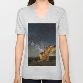 Broken Arch With The Rising Milky Way Unisex V-Neck