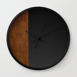 Carbon Leather Mix Wall Clock