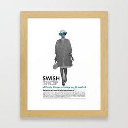 Swish Poster event held in Hackney Framed Art Print