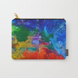 Orchestra, colorful organic abstract, NYC artist Carry-All Pouch