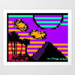 EGYPTTTX-SUNRISE-RC Art Print