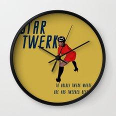 STAR TWERK Wall Clock