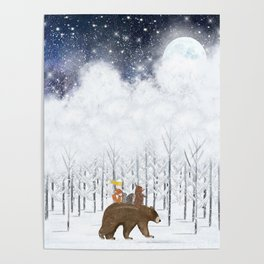 the white forest Poster
