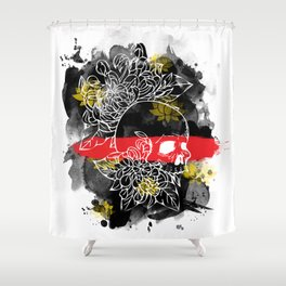 Ink Skull Shower Curtain