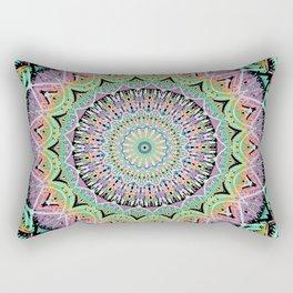 Black Pastel Mandala 012018 Rectangular Pillow
