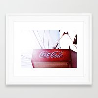 coke Framed Art Prints featuring Coke by Sydney Voyeur by George Patroklou
