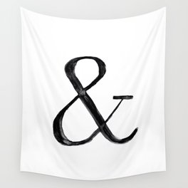 Ampersand watercolor Wall Tapestry