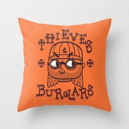 Thieves & Burglars Throw Pillow