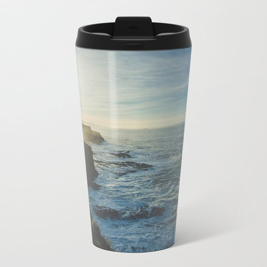 Cliffside Morning Metal Travel Mug