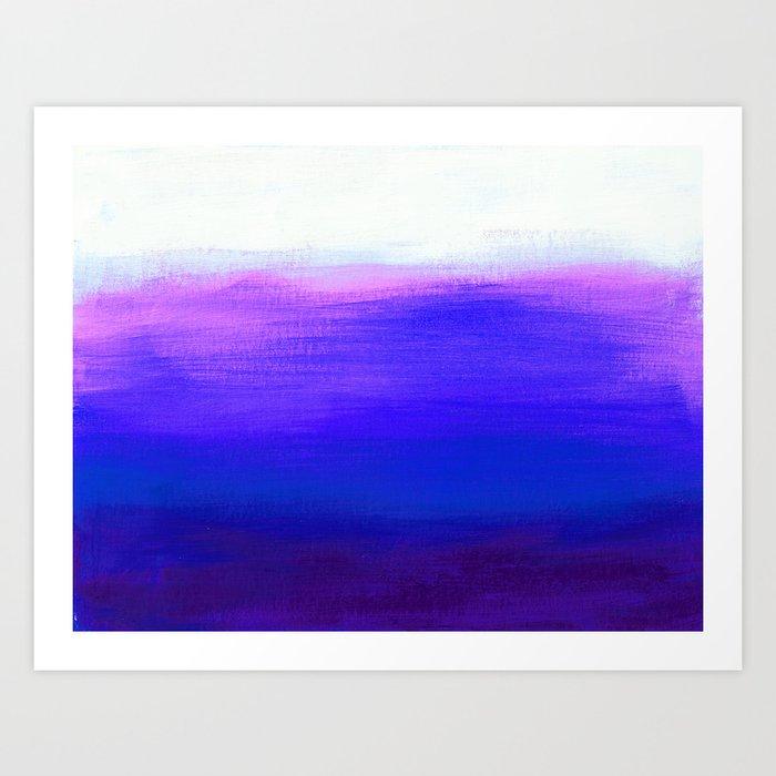 Peace 1 Blue Landscape Abstract Art Print