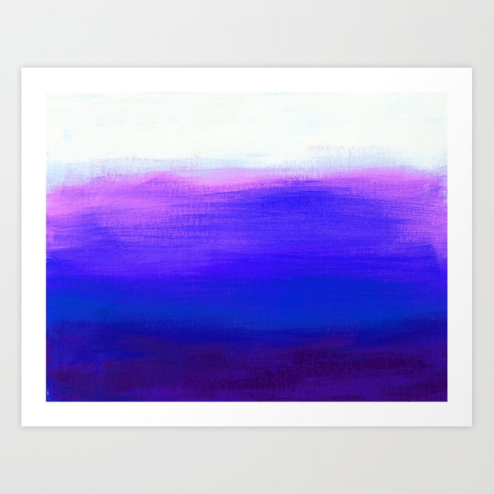 Peace 1 Blue Landscape Abstract Art Print