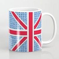 union jack Mugs featuring Union Jack by Cats Hand