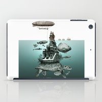 sea turtle iPad Cases featuring turtle by Кaterina Кalinich