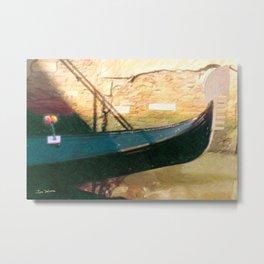 Venetian Gondola Metal Print