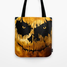 Halloween Creepy Moon Tote Bag