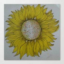 yelllow sunflower hand bag Canvas Print