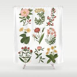 Flower Sketches Shower Curtain