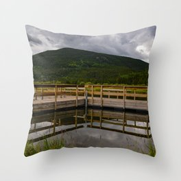 Geometric Reflections Throw Pillow