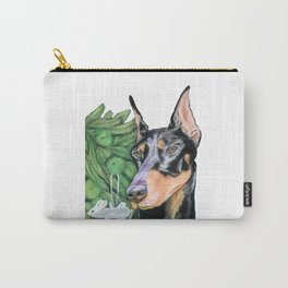 Doberman is Preparing for the Holidays Carry-All Pouch