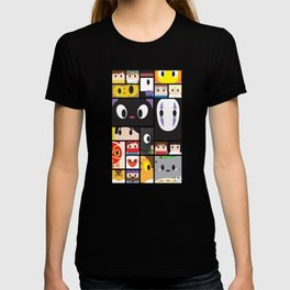 World of Ghibli Blocks T-shirt
