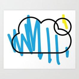 colour me bad / cloud Art Print