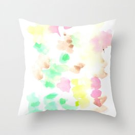 170322 Soft Pastel Watercolour 9  |Modern Watercolor Art | Abstract Watercolors Throw Pillow