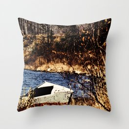 The old rowboat Throw Pillow