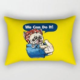 We Can Do It French Bulldog Rectangular Pillow