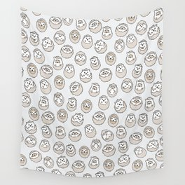 HEDGEHOG PATTERN BEIGE Wall Tapestry